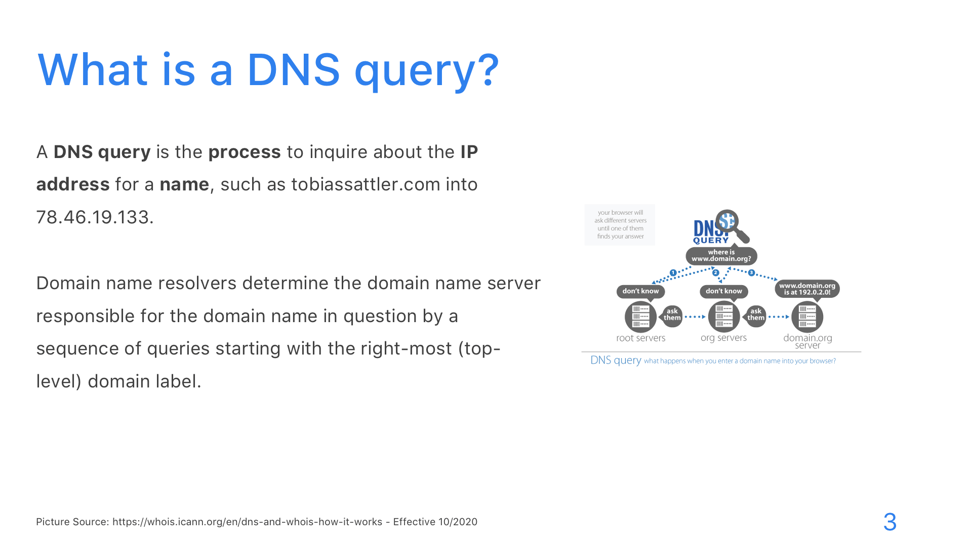 DNS: DoT, DoH, and DoQ - Slide 3