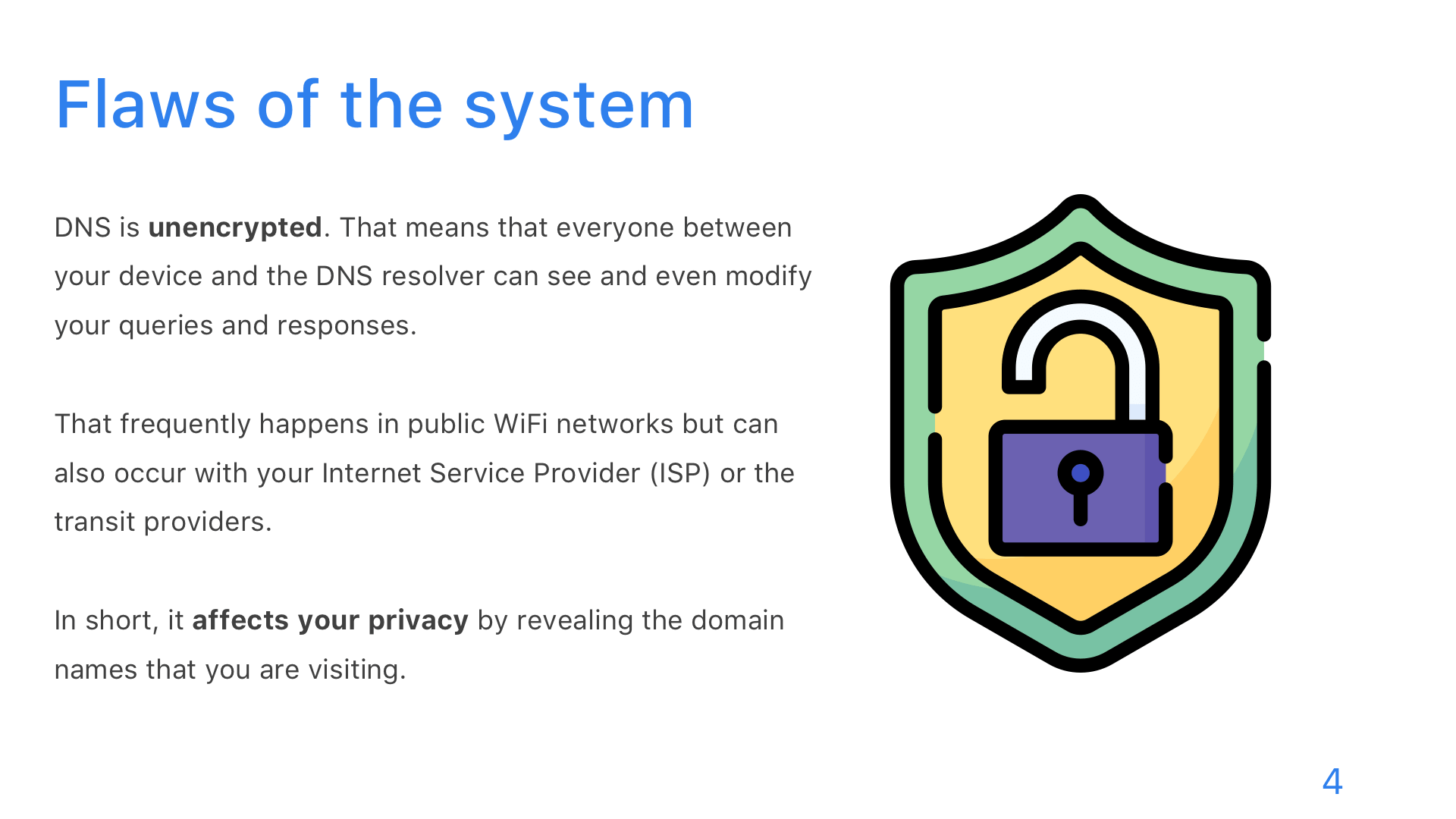 DNS: DoT, DoH, and DoQ - Slide 4