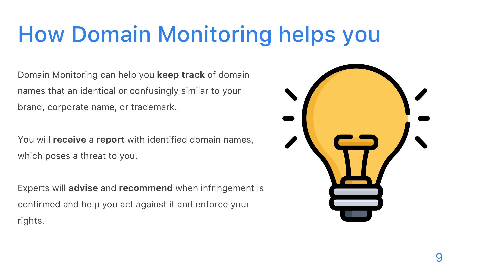 Domain Monitoring - Slide 9
